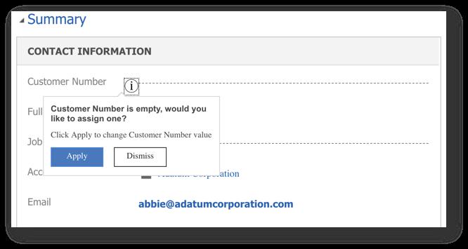 Field Notifications (Alan Uyarıları) ile kullanıcıya bilgi vermek