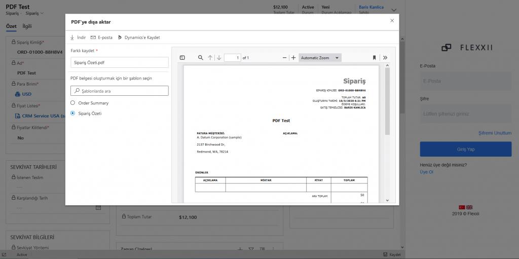 Dynamics 365 2020 Release Wave 2'e Kısa Bakış PDF Dışa Aktarma